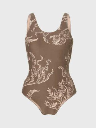 O'Neill fürdőruha klasszikus szabásban, modern, érdekes mintával