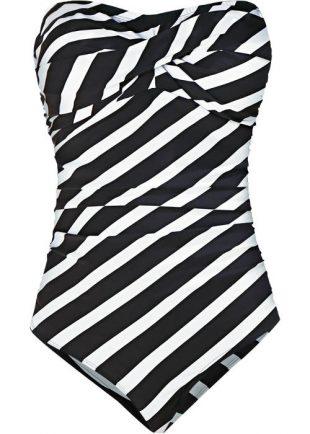 Fekete-fehér zebra formázó egyrészes fürdőruha
